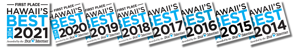 Star Advertiser Hawaii's Best Travel Agency First Place Awards
